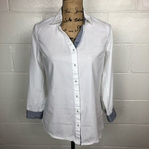 Stitch Fix Skies Are Blue white button up shirt S